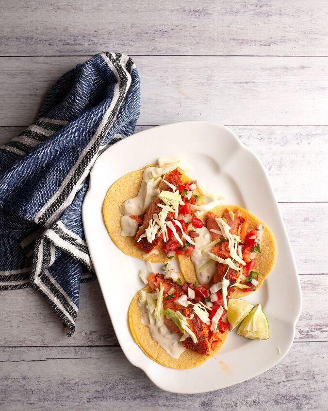 spiced wild salmon tacos