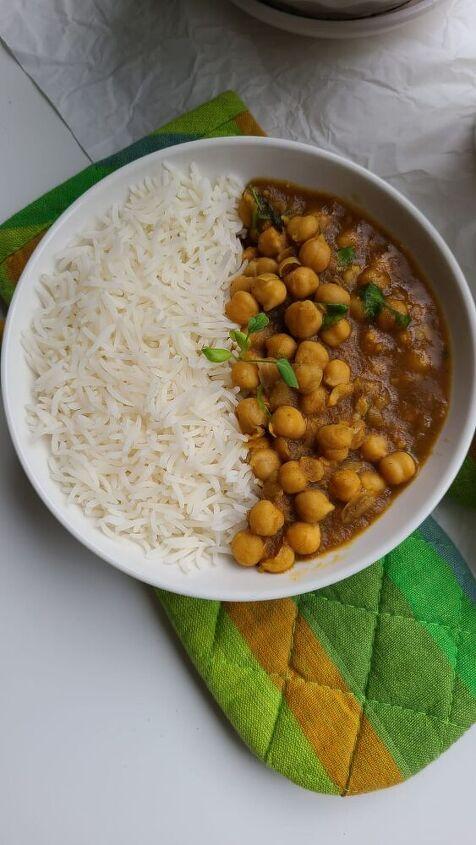 chickpeas with basmati rice