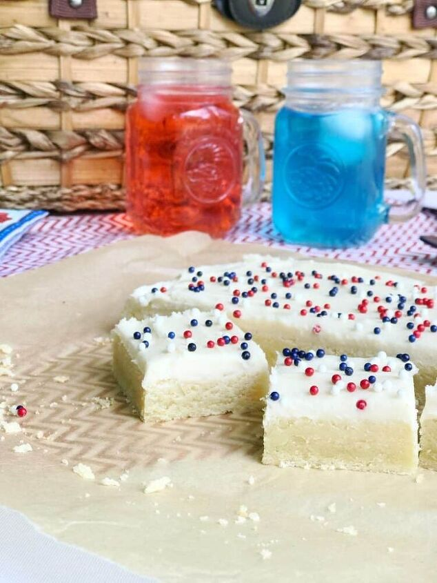 sugar cookie bars with cream cheese classic buttercream frosting