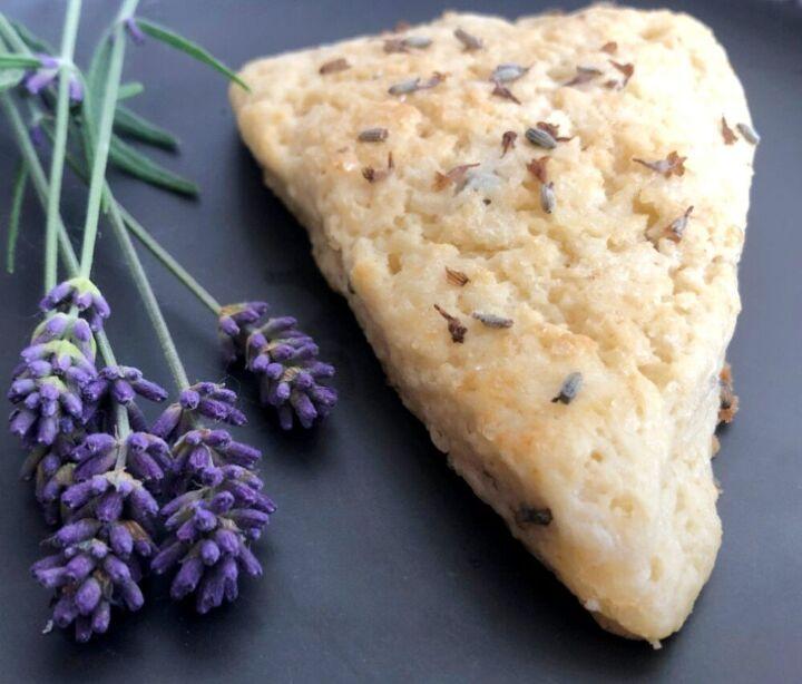 lavender sourdough scones