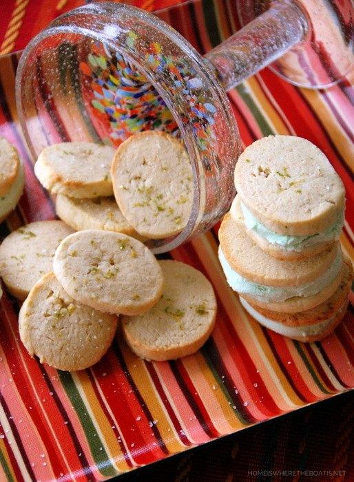 cinco de mayo margarita cookies ice cream sandwiches