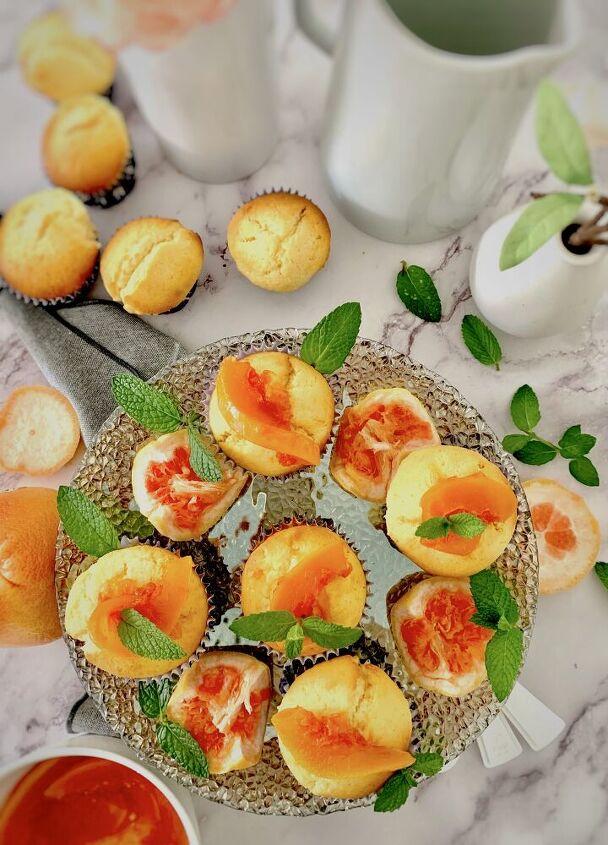 super fluffy grapefruit coconut muffins