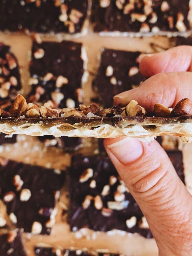 toffee chocolate matzah bark