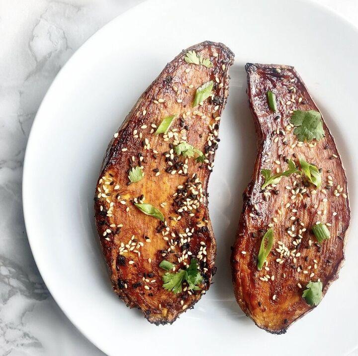 soy glazed sweet potato