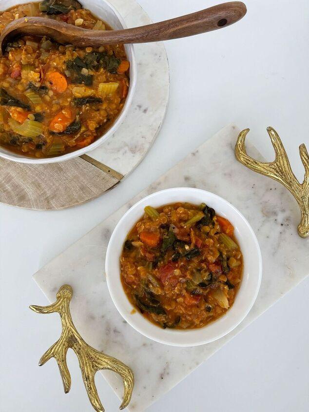 fire roasted tomato lentil soup instant pot recipe