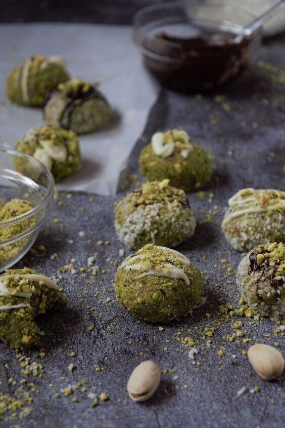 pistachio white chocolate truffles no bake cook recipe