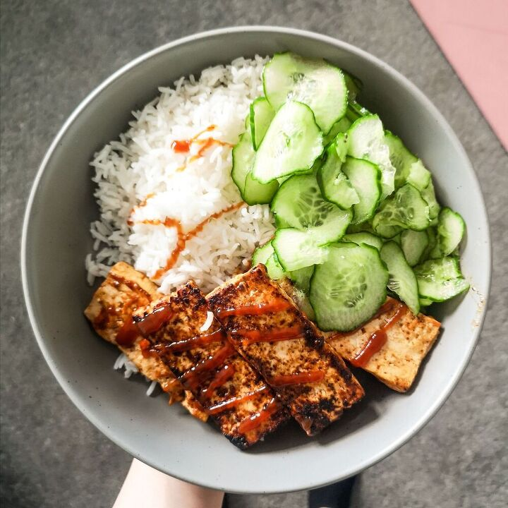 easy bbq tofu limey rice