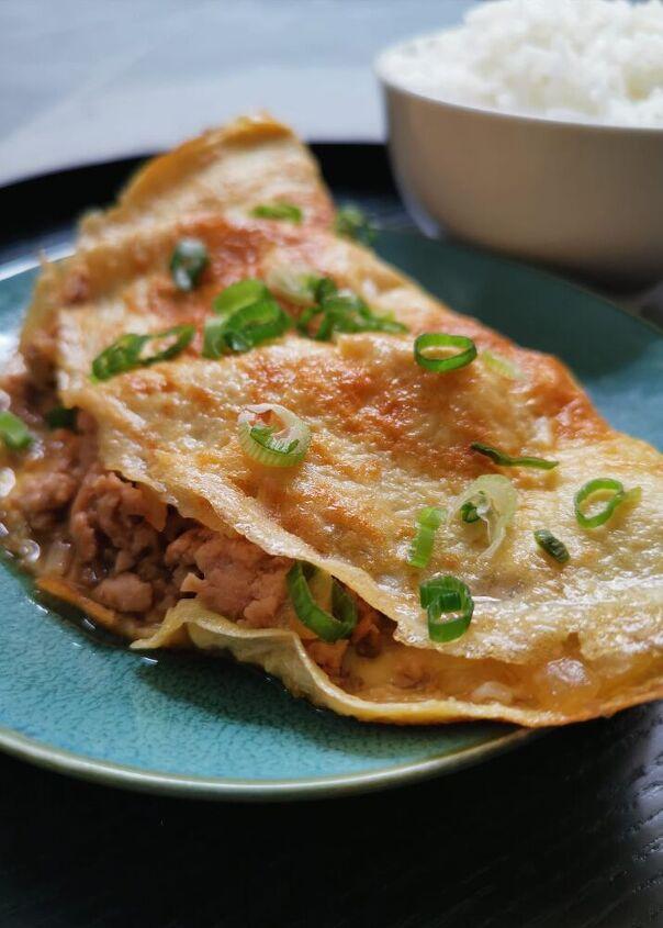 minced pork omelette