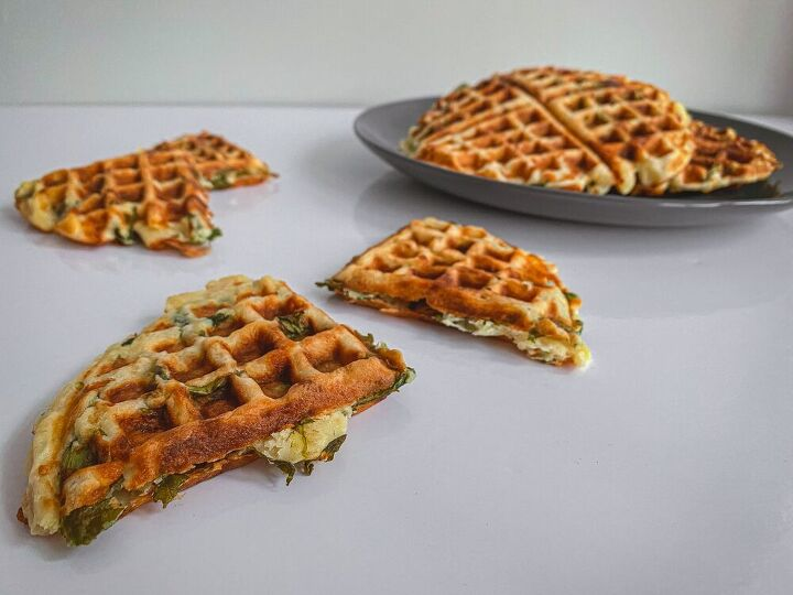 cheese spinach waffles