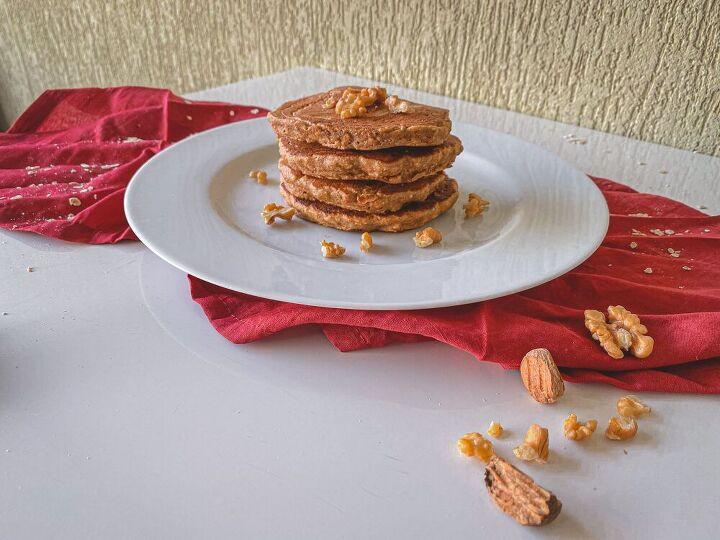 fluffy banan oat pancake