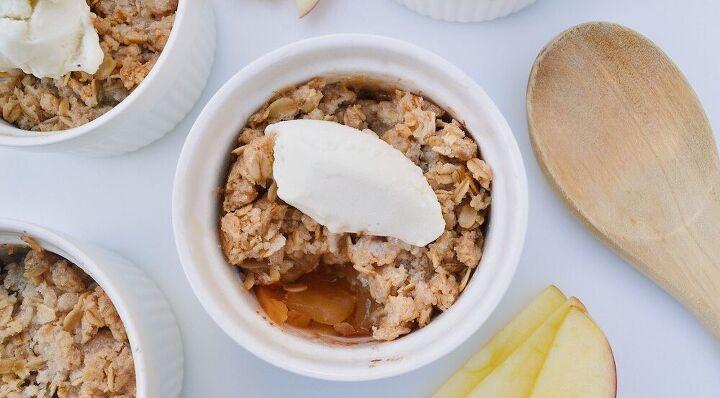 single serving easy apple crisp