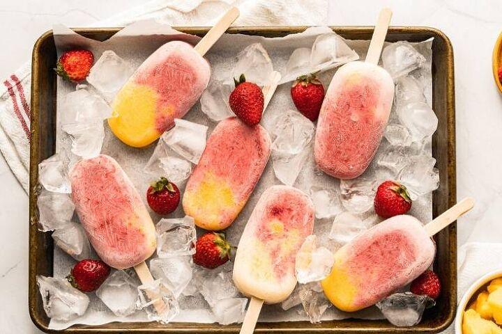 mango strawberry fruit popsicles healthy frozen treats for summer
