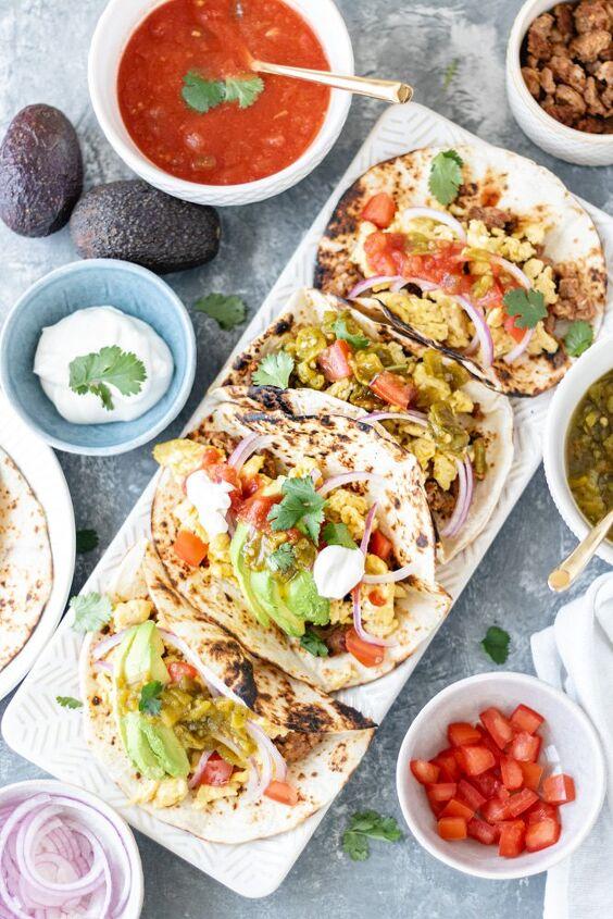 loaded breakfast taco bar quick delicious