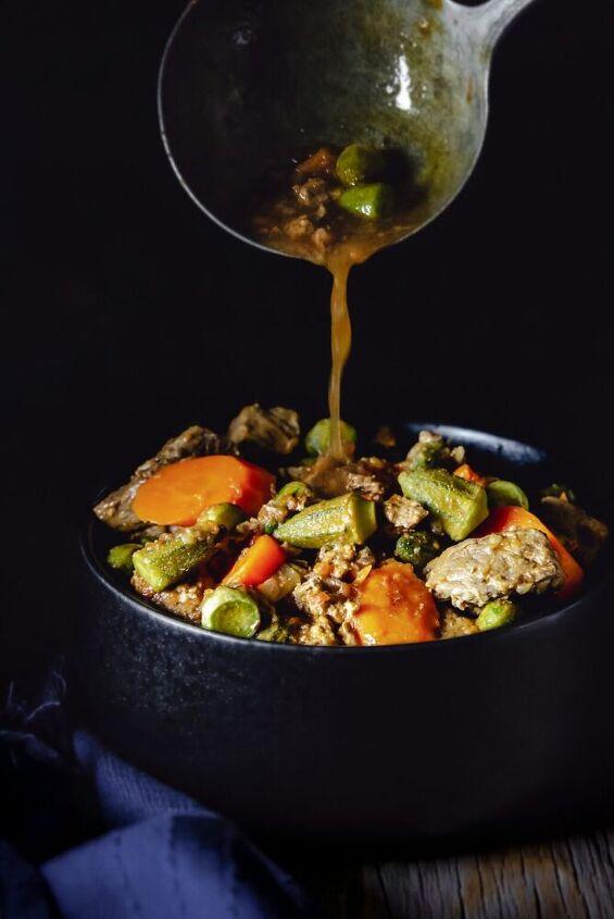 easy mediterranean okra stew bamia