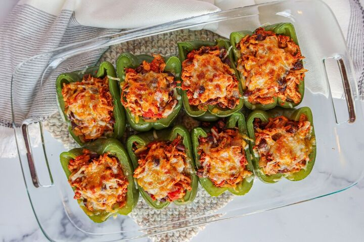chicken taco stuffed peppers, Chicken Taco Stuffed Bell Peppers