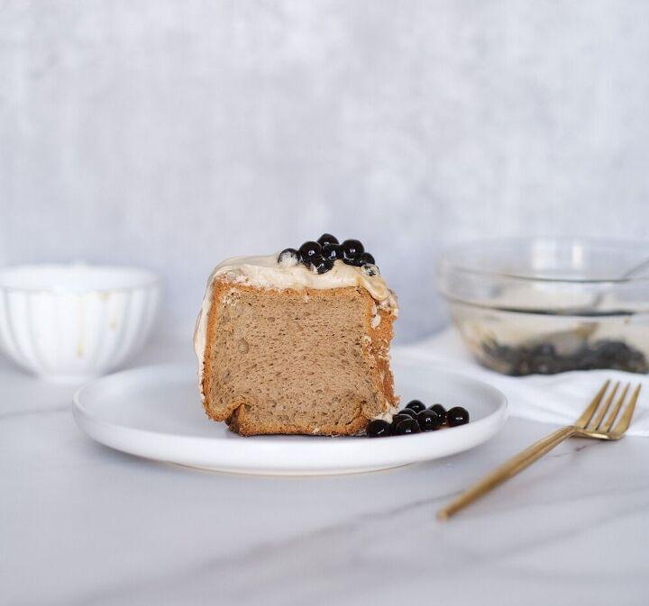 hojicha chiffon cake