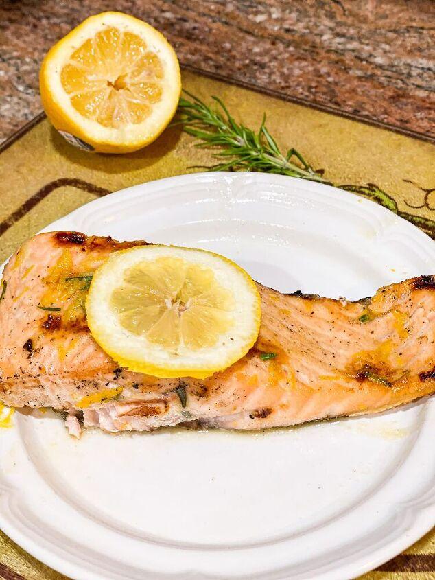 rosemary lemon marinated salmon