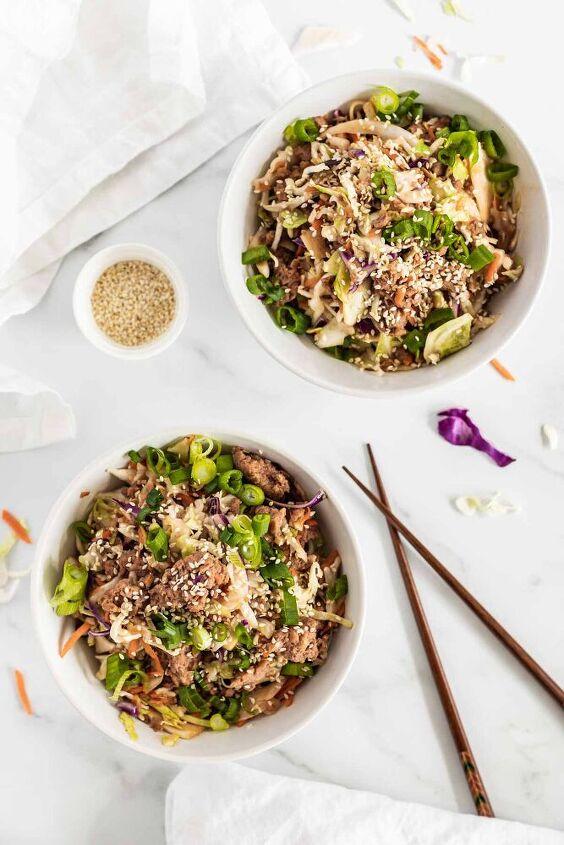 beyond meat cabbage stir fry low carb vegan