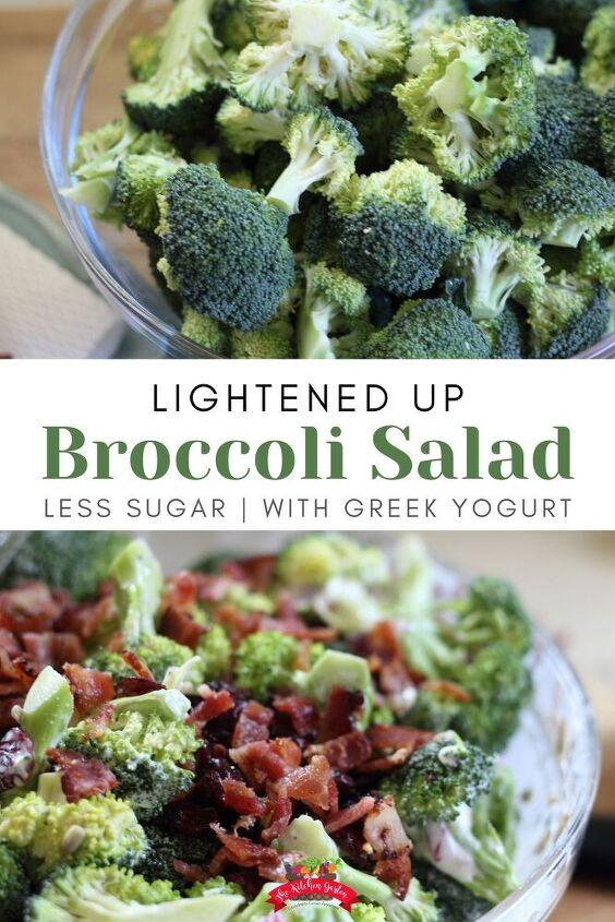 healthy broccoli salad the kitchen garten