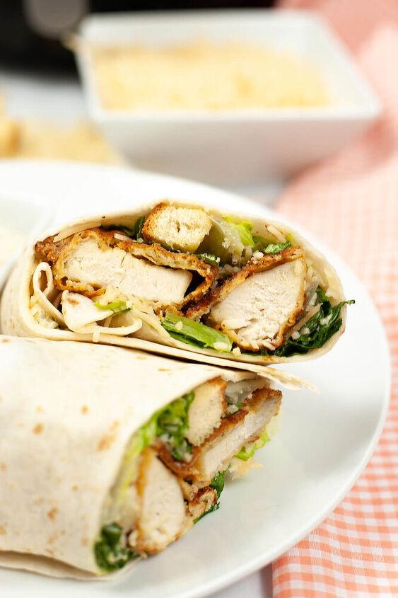 air fryer crispy chicken caesar wrap recipe