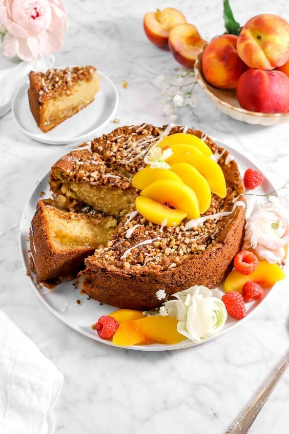 buttermilk peach cobbler coffee cake
