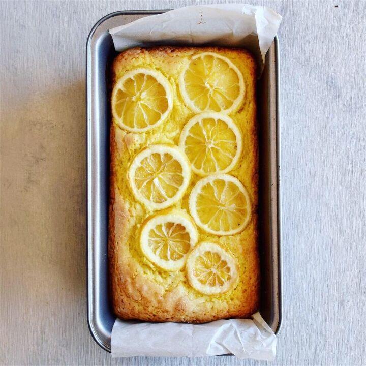 meyer lemon pound cake with candied lemon slices