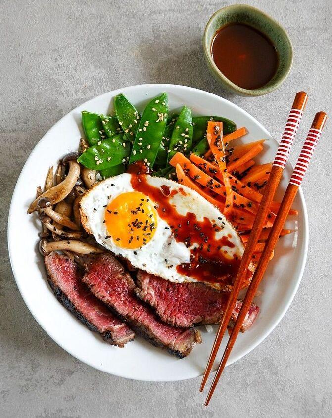 korean style steak bibimbap