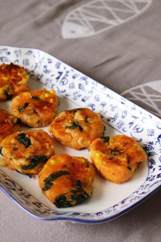 sweet potato chicken and kale patties