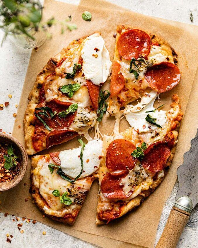 pepperoni flatbread pizza naan