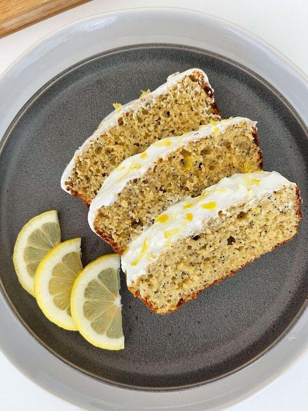 gluten free lemon poppyseed loaf cake