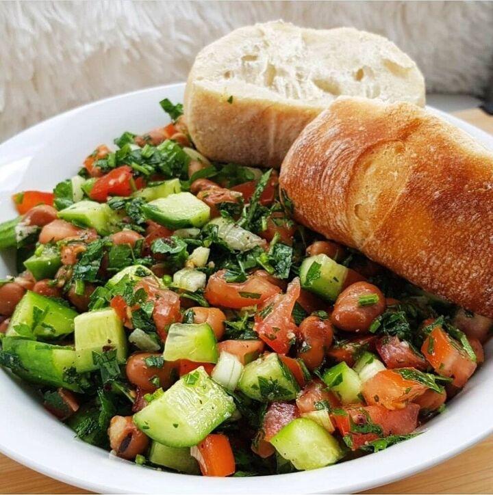 mediterranean fava bean salad