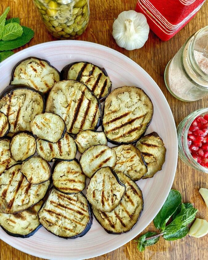 italian style grilled aubergines