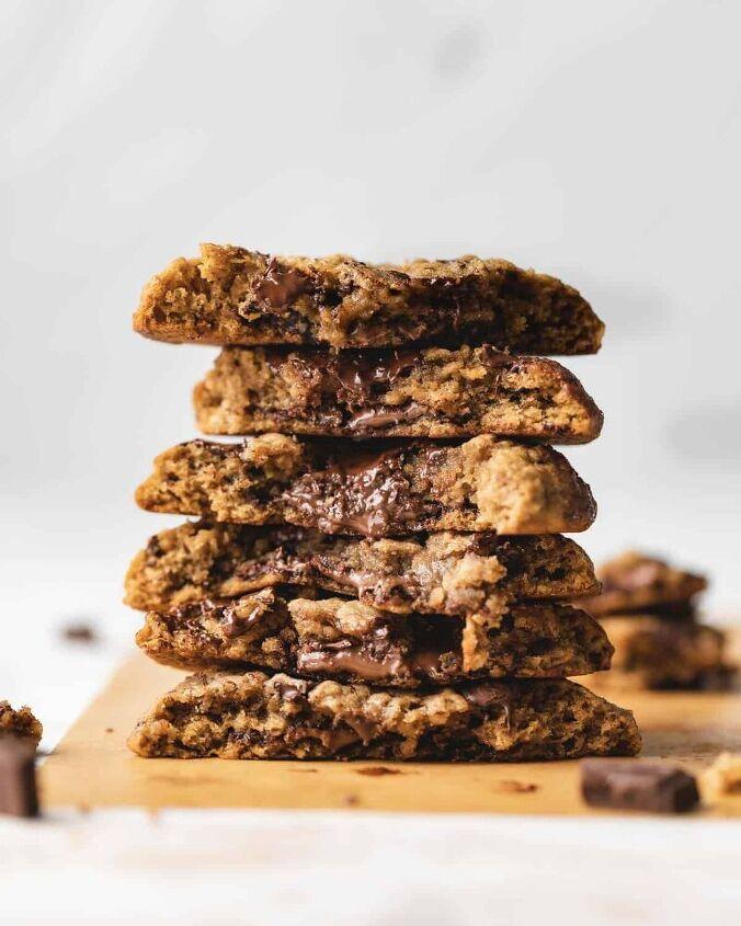 banana nutella cookies oatmeal