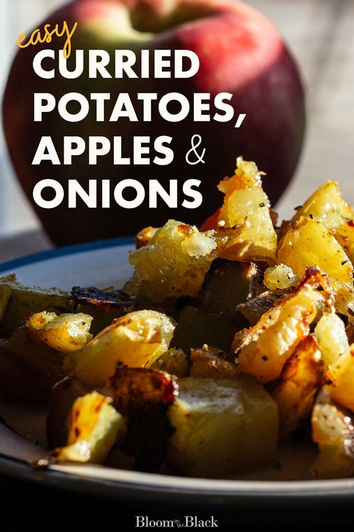 easy curried potatoes apples and onions