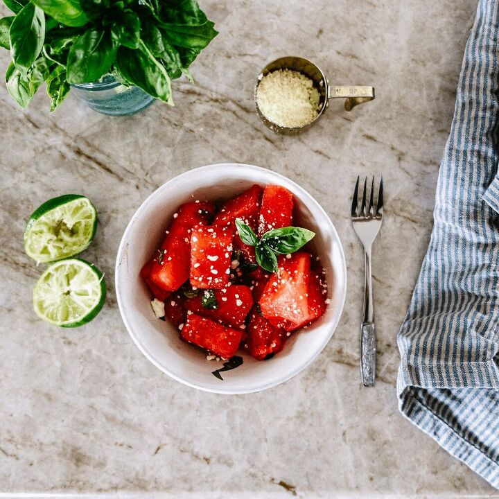 watermelon salad a summertime favourite vintage society co