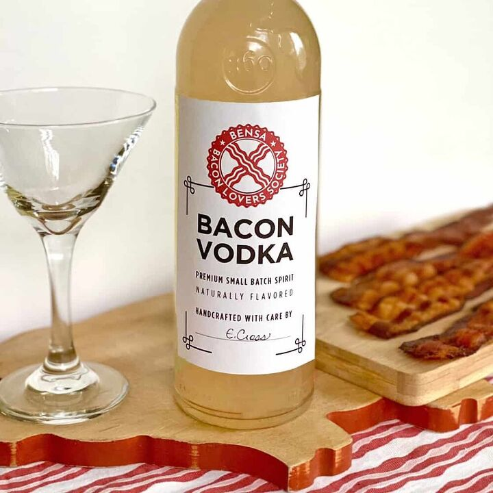 bacon vodka recipe with printable labels