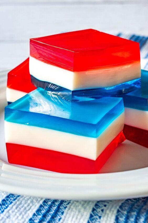 red white blue layered jello
