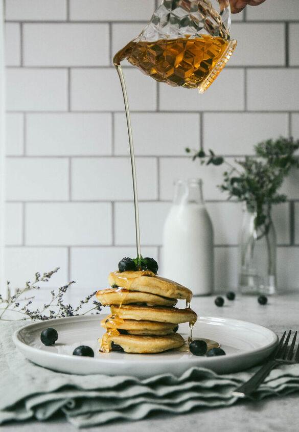 mini blueberry pancakes