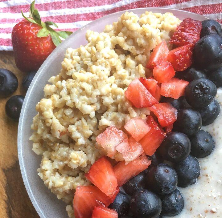 easy steel cut oat breakfast bowls in the instant pot