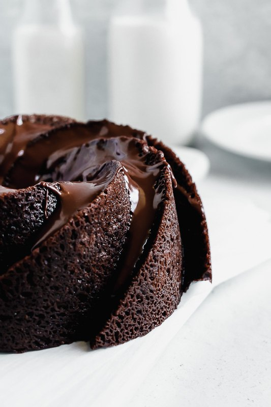 double chocolate chip bundt cake