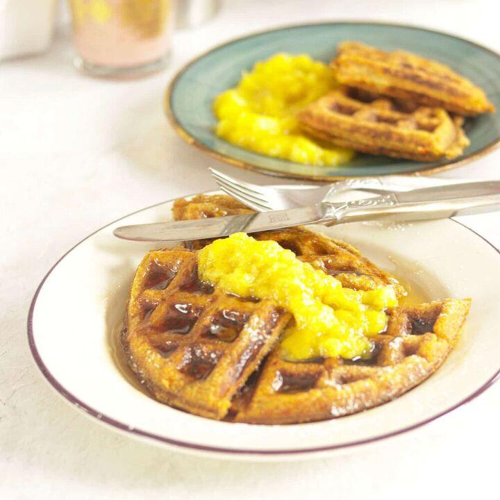 carrot cake waffles how to make healthy homemade waffles