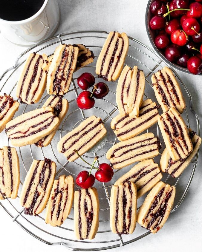 cherry icebox ribbon cookies