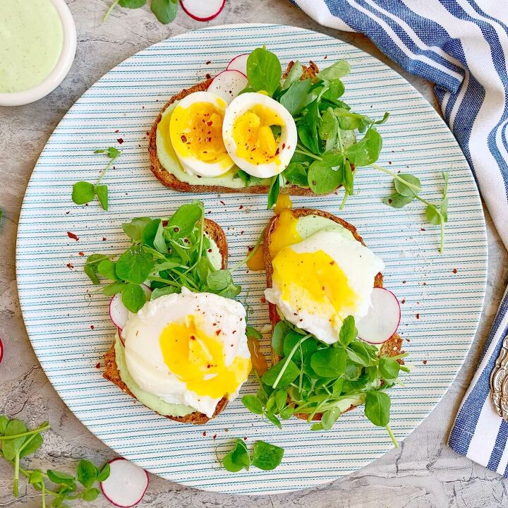 herb whipped goat cheese toast