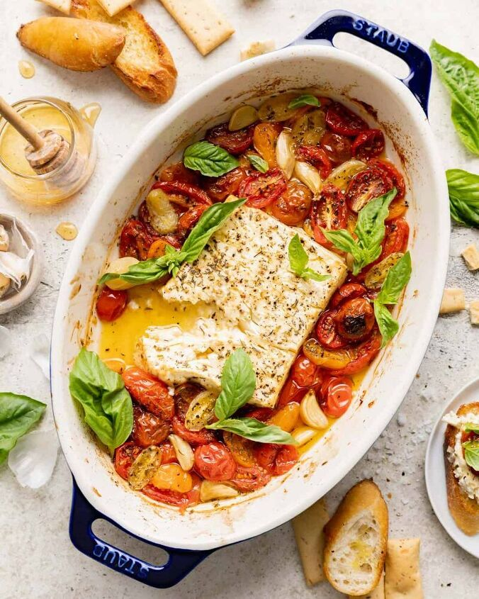 baked feta dip with tomatoes