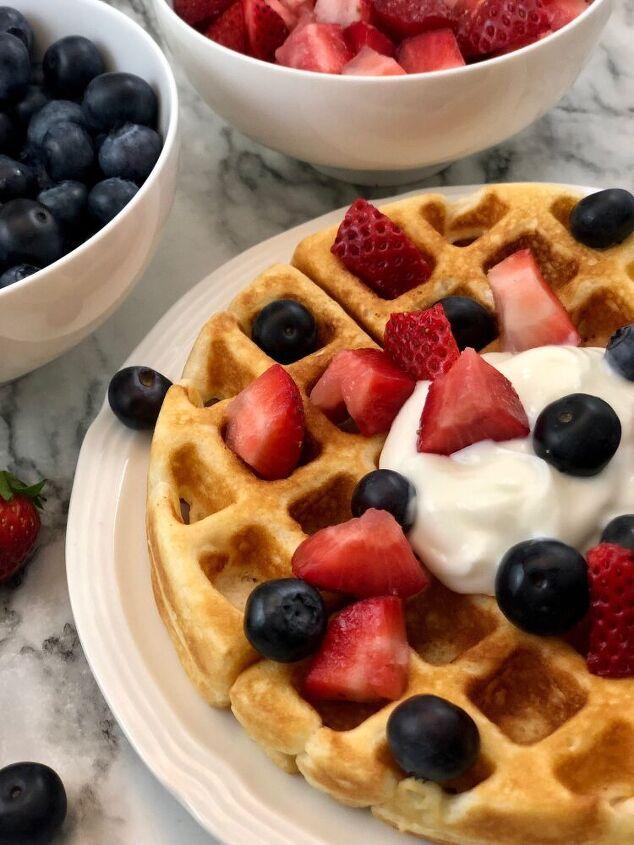 lemon berry waffles