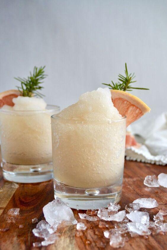 grapefruit ginger bourbon slush
