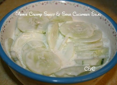 creamy cucumber salad my mom s delicious recipe