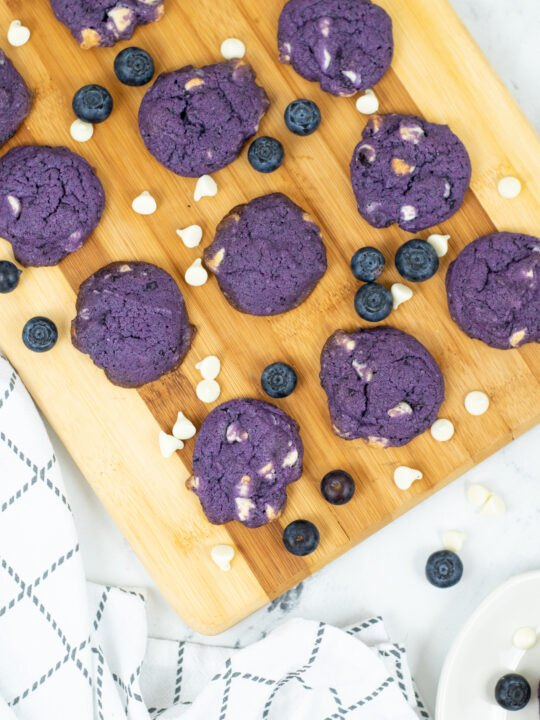 how to make the tik tok viral blueberry cookies recipe