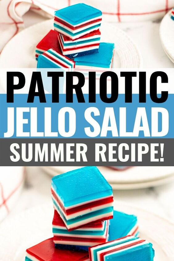 red white and blue jello ribbon salad