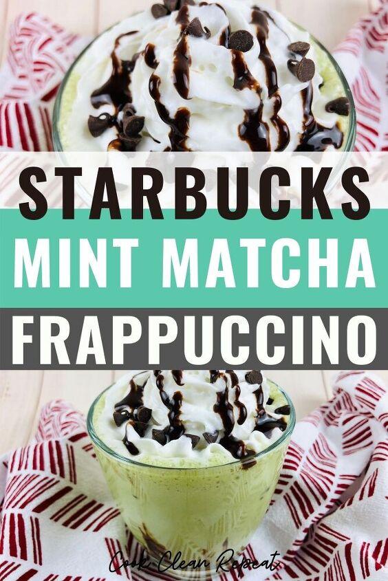 starbucks mint matcha frappuccino